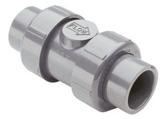"3/4"", Socket/FPT x Socket/FPT, 235 PSI, Injection Molded CPVC, True Union, Ball, Check Valve"