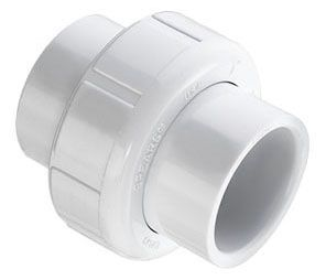 """3"""" x 3"""", Socket x Socket, 150 PSI, Schedule 40, White, Injection Molded PVC, Straight, Union"""