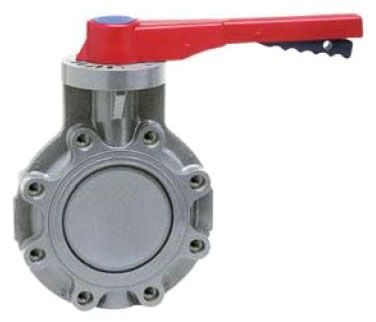 "4"", 150 PSI, CPVC, Lever Handle, Standard, Butterfly Valve"