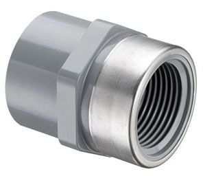 "2-1/2"" x 2-1/2"", Socket x FPT, 420 PSI, Schedule 80, Lead-Free, Grey, CPVC, Special Reinforced, Straight, Female Adapter"