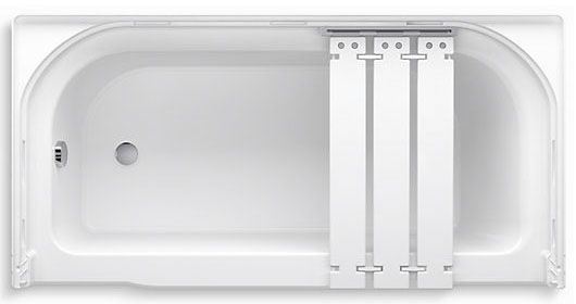 "60"" x 30"", White/High Gloss, Solid Vikrell, Left Drain, Rectangle in Rectangle, Alcove, Bathtub"
