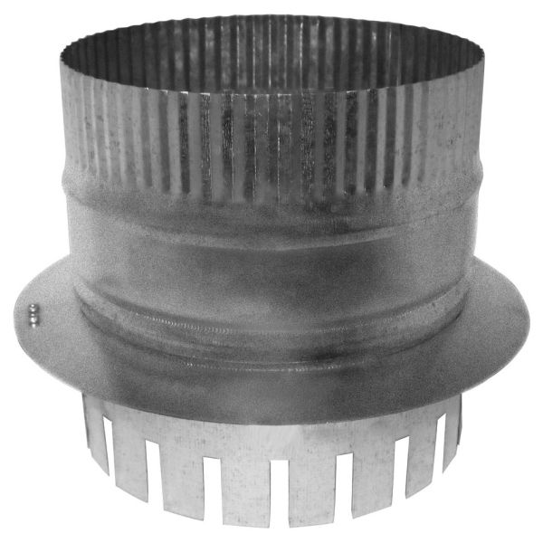 """8"""" Duct Board Start Collar - For R6 (1.5"""") Duct Board, Optional Damper Holes"""
