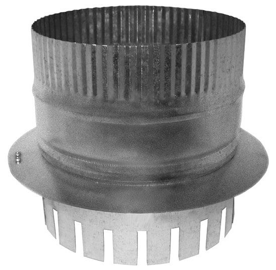 """8"""" Duct Board Start Collar With Damper - For R6 (1.5"""") Duct Board"""