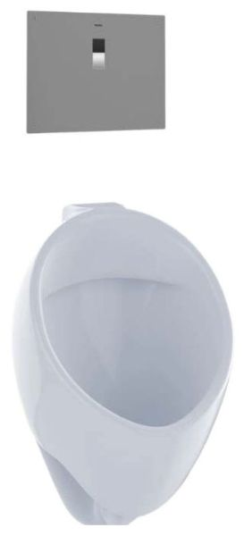 "13"" x 14-1/4"" x 21-3/4"", Rear Spud Inlet x Rear Spud Outlet, 0.125 GPF, Cotton, Vitreous China, Washout Flush Action, Urinal"