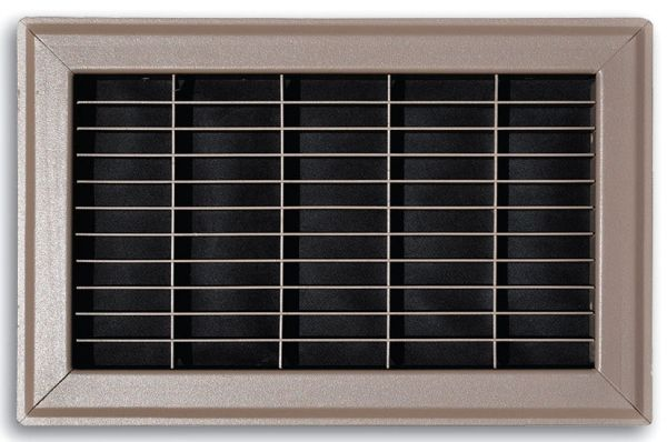 "20"" x 20"" x 15/16"", Brown Powder Coated, Steel, Heavy Gauge Bar Face, Return Air, Grille"