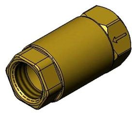 "3/4"", FPT x FPT, Lead-Free, 20 to 400 PSI, Brass, Horizontal, Check Valve"