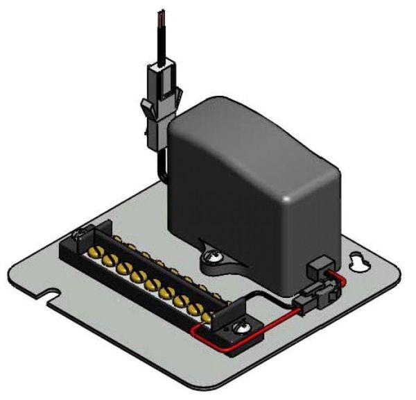 """4-3/4"""" x 4-3/4"""" x 2-1/4"""", 100 to 240 VAC Input, 6.5 VDC Output, 2000 mA, Hardwire/Plug-In, Faucet Transformer with Terminal Block"""