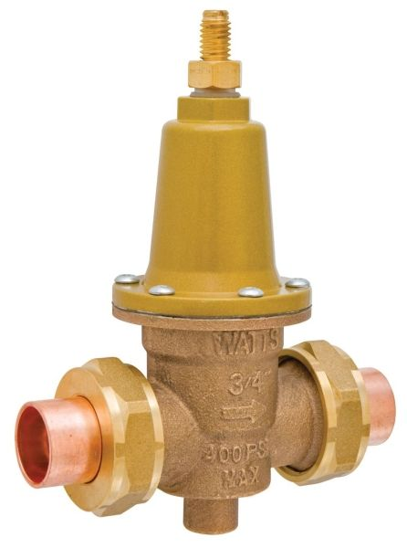 "1-1/2"", Union Soldered x Union Soldered, 400 PSI, Lead-Free, Brass, Double Union, Pressure Reducing Valve"