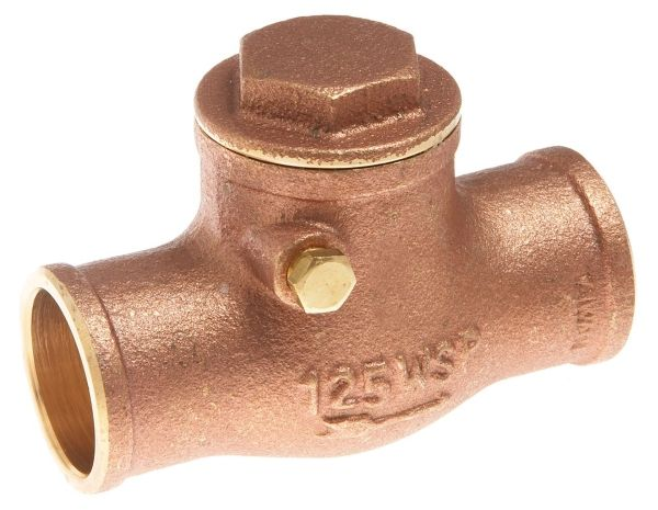 "1"", Soldered x Soldered, 200 PSI WOG, Lead-Free, Brass, Swing, Check Valve"