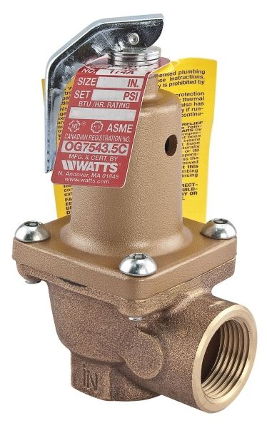 """1"""" x 1"""", FPT x FPT, 150 PSI, Bronze, Spring Loaded, Pressure Relief Valve"""
