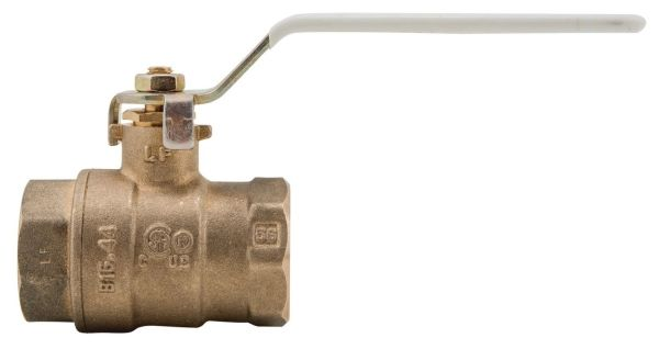 """1/2"""", NPT x NPT, 600 PSI Non-Shock WOG, Lead-Free, Forged Copper Silicon Alloy, Lever Handle, 2-Piece, Ball Valve"""