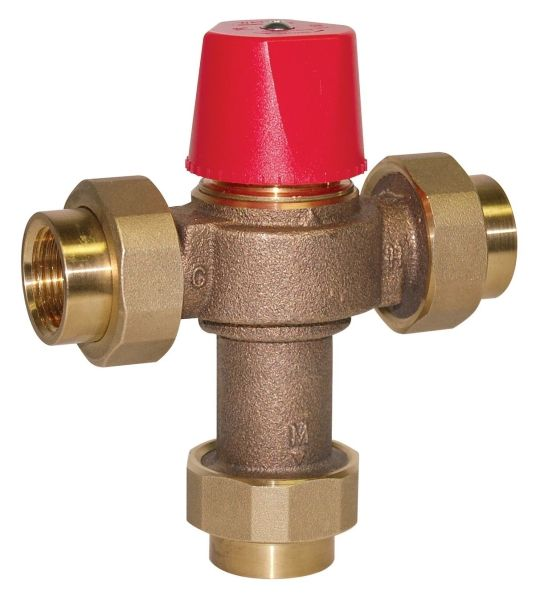"""3/4"""", FPT x FPT x FPT, 0.5 to 23 GPM, 150 PSI, Lead-Free, Copper Silicon Alloy, Thermostatic Mixing Valve"""