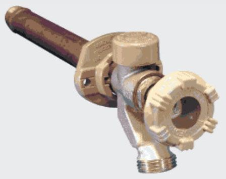 "1/2"" x 3/4"", C/FTG x MHT, 12"" Rough-In, 125 PSI, Anti-Siphon, Freezeless, Wall Faucet"