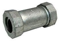 "1"" x 1"", Compression x Compression, Lead-Free, Galvanized, Malleable Iron, Straight, Import, Coupling"