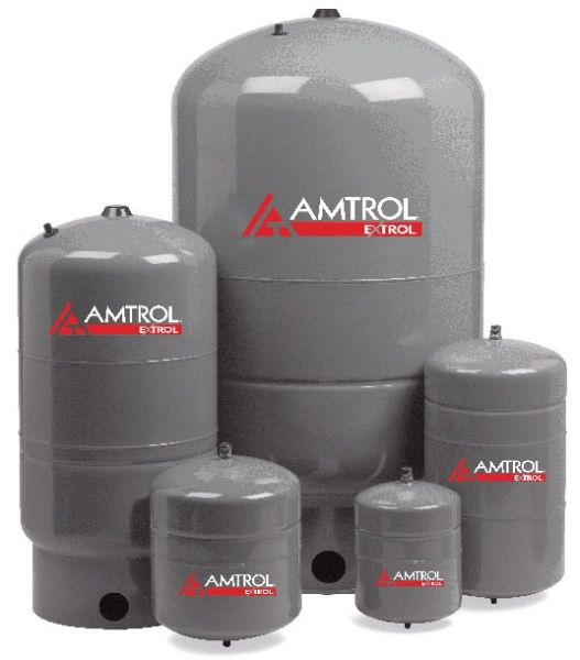 """11"""" x 23"""", 7.6 Gallon, 100 PSIG, Lead-Free, Steel Shell, In-Line, Pre-Charged, Hydronic Expansion Tank for Water Heater"""