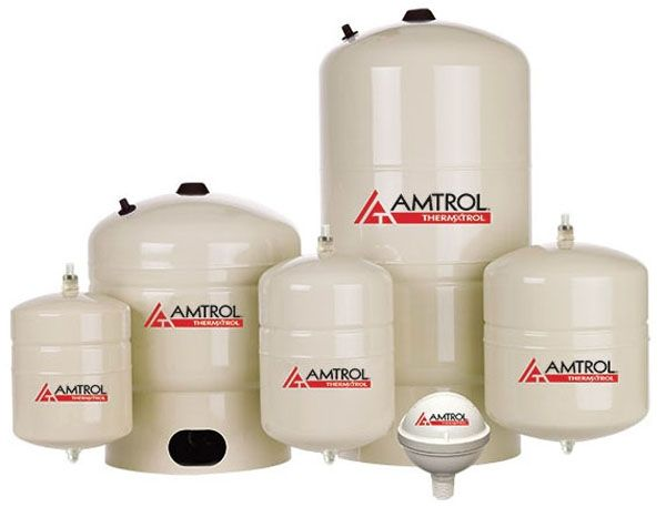 """15"""" x 24"""", 14 Gallon, 150 PSIG, Lead-Free, Steel Shell, In-Line, Pre-Charged, Thermal Expansion Tank for Water Heater"""
