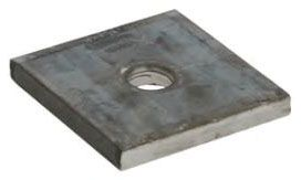 """3/8""""-16 TPI, Plain, Steel, Square, Channel Washer Plate"""
