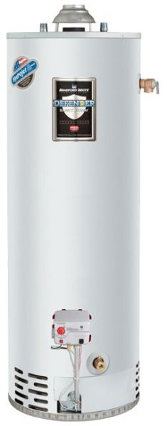 40 Gallon Residential Propane Gas Water Heater, 36000 BTU/Hr, Top Mounted T and P Relief Valve, Atmospheric Vent, Tall
