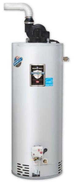 48 Gallon Residential Natural Gas Water Heater, 65000 BTU/Hr, Power Vent, Hi-Altitude