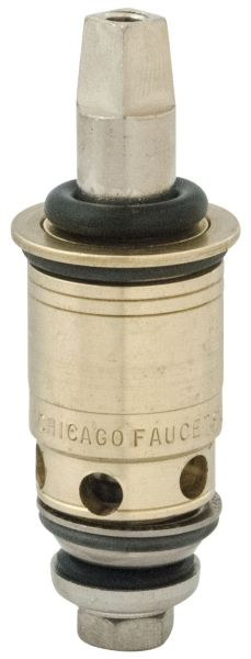 Lead-Free, Cast Brass, Compression, 1/4 Turn Operating, 90D Turn On, Manual Shut-Off, Right Hand, Cartridge for Kitchen Faucet (12-Box)