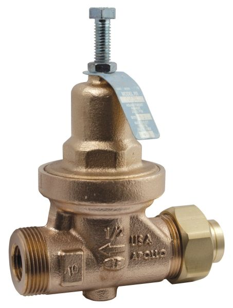 "1/2"", FPT x FPT, 10 to 32 PSIG, Lead-Free, Bronze, Direct Acting, Pressure Reducing Valve"