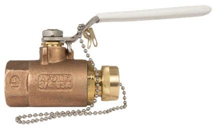 """1/2"""" x 3/4"""", Soldered x Hose Threaded, 600 PSI CWP, Lead-Free, Bronze, Lever Handle, 2-Piece, Ball Valve"""