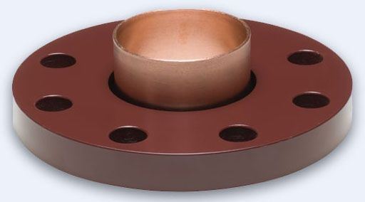 """4"""", Flanged x CTS, 10"""" OD, 600 PSI, Powder Coated, Plated Steel, Companion, Flange Adapter with EPDM Insulator"""