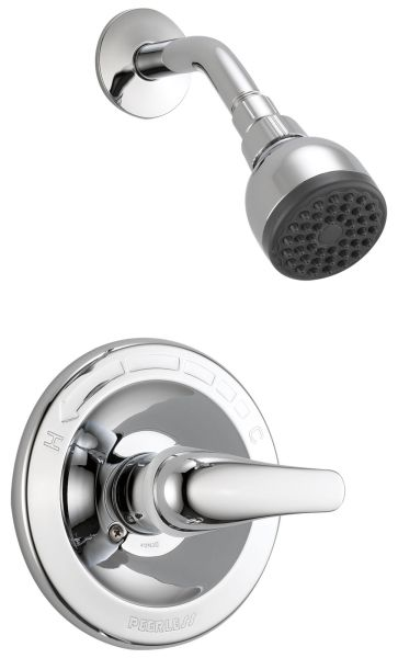 1.5 GPM at 80 PSI, Chrome Plated, Lever Handle, Wall Mount, Pressure Balancing, Shower Trim