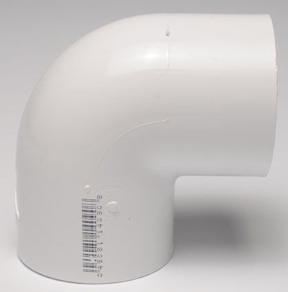 "3"" x 3"", Slip x Slip, Schedule 40, PVC, 90D, Straight, Elbow"