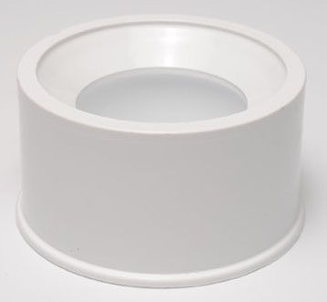 "1-1/4"" x 3/4"", Spigot x Slip, Schedule 40, White, PVC, Reducing, Bushing"