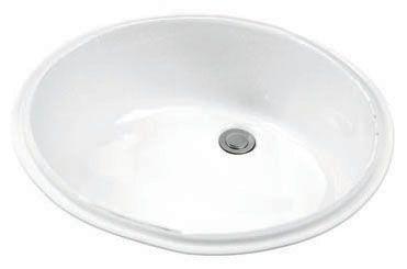 "18-1/2"" x 15-3/8"" x 7-5/8"", 4-1/4"" Rough-In, White, Vitreous China, Single Bowl, Undercounter, Bathroom Sink"