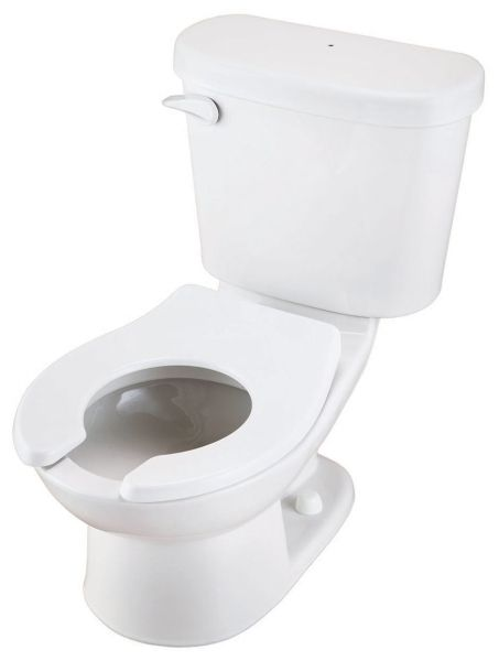 "15-3/4"" x 24-5/8"" x 23-7/8"", 10"" Rough-In, 1.28 GPF, White, 2-Piece, Round Front Bowl, Dual Fed Siphon Jet Flush, Toilet"