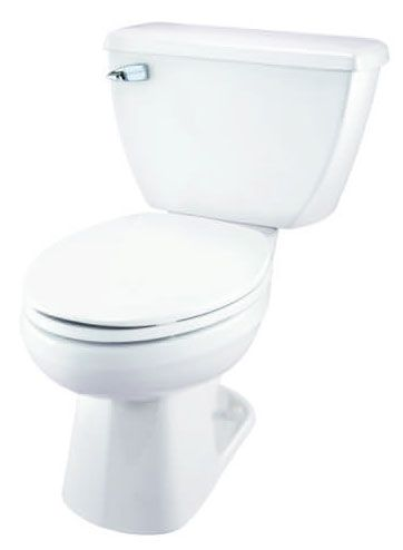 """14-7/8"""", 10"""" or 12"""" or 14"""" Rough-In, 1.28 GPF, White, Vitreous China, 2-Piece, Elongated, Round Front, Dual Fed Siphon Jet Action, Toilet Bowl"""