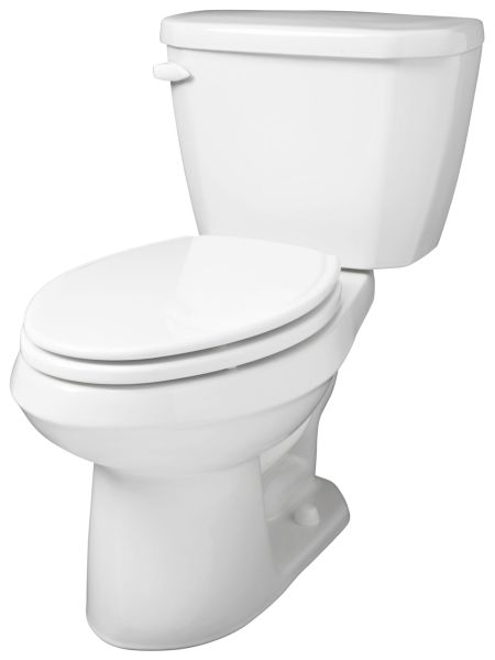 """16-3/8"""" x 29"""" x 29"""", 12"""" Rough-In, 1.28 GPF, White, Vitreous China, 2-Piece, Round Front Bowl, Dual Fed Siphon Jet Flush, Toilet"""