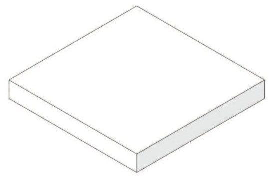 """2"""" x 2"""" x 0.25"""", 50 PSI, White, Neoprene, Isolation Pad"""