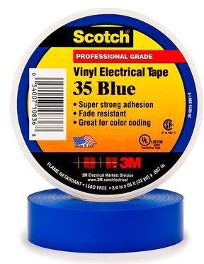 MMM 35BL BLUE 3/4X66 CC TAPE