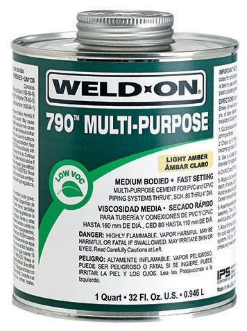 1/2 Pint, Can, Clear, Medium, 790 Solvent Cement