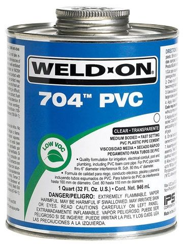 1/2 Pint, Can, Lead-Free, Clear, Medium, 704 Solvent Cement