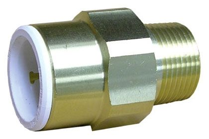 "1/2"" x 1/2"", CTS x MPT, 160 PSI, Lead-Free, Brass, Straight, Connector"
