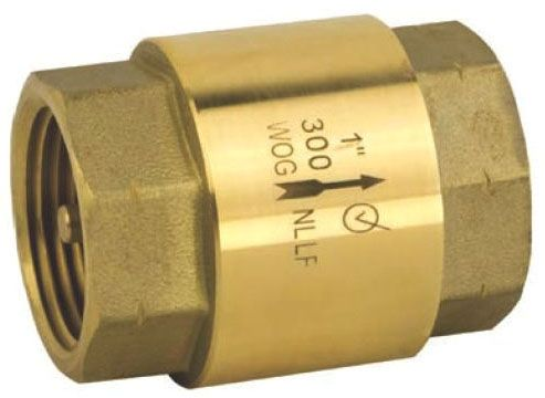 "2"", NPT x NPT, 300 PSI WOG, Lead-Free, Forged Brass, In-Line, Check Valve"