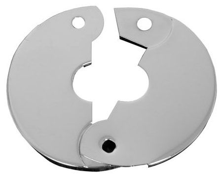 "1"" CTS, 3-9/32"" OD, 24 Gauge, Chrome Plated, Hinged, Floor and Ceiling Plate"