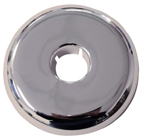 "1"" IPS, 3.21"" OD, Chrome Plated, Plastic, Split, Flexible, Floor and Ceiling Plate"