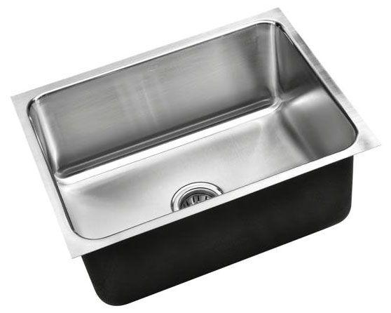 "24"" x 18"", 18 Gauge, Polished Satin, Stainless Steel, Undermount, Single Bowl, Kitchen Sink"