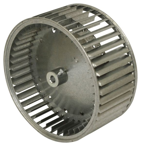 """10-5/8"""" x 10-5/8"""", 1750 RPM, Galvanized Steel, Convex Center Disc, Clock Wise Rotation, Double Inlet, Direct Drive, HVAC Blower Wheel"""