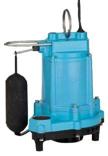 "1-1/2"", FPT Outlet, 115 VAC 60 Hz, 5 A, 1/3 HP, 34 GPM at 20', 12.1 PSI, Epoxy Coated Cast Iron/Polypropylene, Sump Pump"