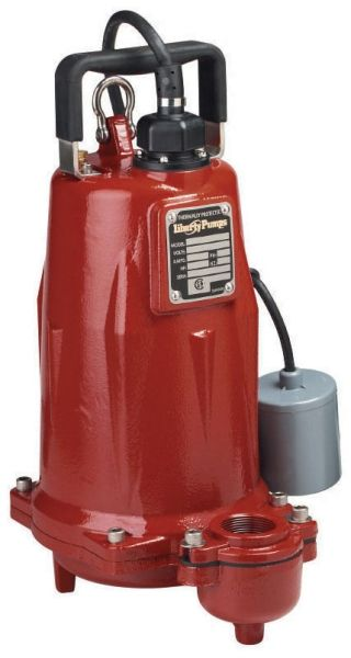"2"", FPT Outlet, 440 to 480 VAC 60 Hz 3-Phase, 5.7 A, 1-1/2 HP, 3450 RPM, 130 GPM, Cast Iron Casing, Submersible, Effluent Pump"