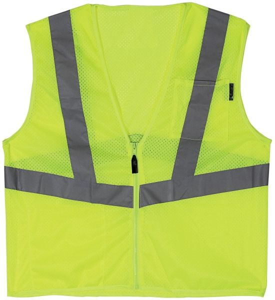 XX-Large, Yellow, Polyester, Breathable, Safety Vest
