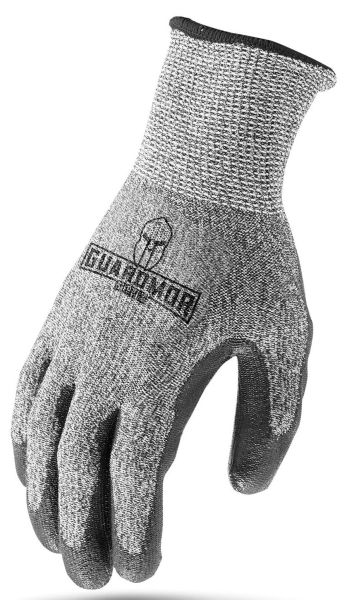 Large, Polyurethane Coated Palm, Cut Resistant, Gloves (12 Pair-Bag)