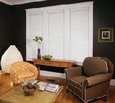 "48"" x 31"" Cordless Window Blind - Faux Wood, 2"" Slat, White"