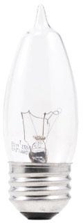 (13441) S-40B10/W/BL/2PK 40W 120V B10 SOFT WHITE FLAME SHAPE (BENT TIP) MEDIUM SCREW BASE OSRAM SYLVANIA INCANDESCENT LAMP